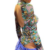 Sexy Bodysuit Summer Women High Cut Leotard Thong Clubwear Bodycon Jumpsuit Bodys Romper Tops Overalls Women's T-Shirt