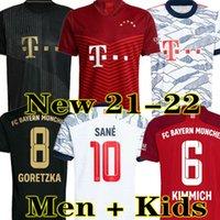 Goretzka 21 22 Race Sane 바이에른 선수 버전 팬 축구 유니폼 뮌헨 Lewandowski Davies Muller Gnabry Munchen 2021 2022 남자 아이들 축구 셔츠
