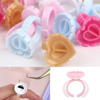 False Eyelashes COME 50 100pcs Disposable V-Shaped Eyelash Glue Fan Cup Rings Easy To Make Volume Fans Nail Art Adhesibve Holder Makeup Tool