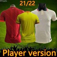 Spieler version 2021 2022 2122 Fußballtrikots Home rot weg weiß 3rd gelb polo thailand mohamed jersey fußball shirts männer