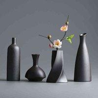 Modern ceramic vase creative black tablet Vazen thydroponic containers flower pot Home Decor craft Bruiloft decoration J0514