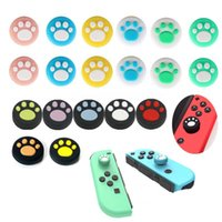 Replacement Silicone Cases Covers Cat Claw Joystick Caps Controller Grip Thumbstick Buttons Cover Shell For Nintendo Switch Controllers 17 Colors DHL