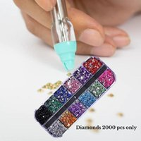 Nail Art Kits 1 PC 5D Resin Diamond Painting Pen Point Drill Pens Cross Stitch Embroidery DIY Craft Sewing Accessories