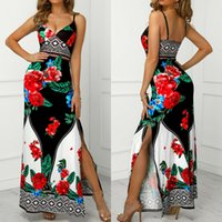 2019 Women Bodycon Casual Sleeveless Floral Boho Dress Evening Party Cocktail Dresses