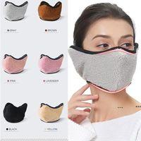 Unisex Earmuff Teddy Cashmere Máscaras Agrícolas All-Inclusivas Máscaras Equitação Reutilizável Lavável Respirável Dustproof Máscara Fria RRE10197