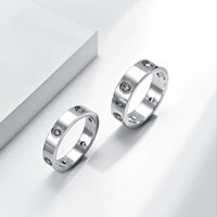 2021 Золотое кольцо дизайн для мужчин любит любовь титановый сталь алмаз роскошный мужской дизайнер серебряные кольца женщины дизайн мода ювелирные изделия женские ювелирные изделия настроены