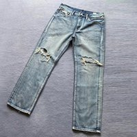 Men's Jeans High-quality Retro Loose Trend Ripped Denim Trousers 2021 Autumn Casual Old Motorcycle Straight-leg Pants