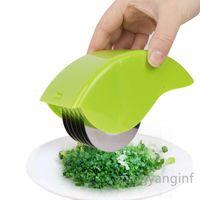 Герб роликовый минтер, ручной ручной блеск Chive Mint Cutter с 6 лезвием из нержавеющей стали Кухня овощей Chop CC0348