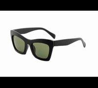 41399 novos óculos de sol óculos personalidade tendência óculos de sol gato óculos de sol para homens e mulheres lente plana