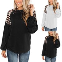 Women Sweatshirt Fashion Casual Leopard Print Loose Pullover Long Sleeve O-neck Hoodies Female Tops Coat Harajuku #40 Women's & Sweatshirts