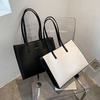 2021 Solid Color Shoulder Bag Women Hand Bag Ladies PU Leather Women's Office Big Tote Lady High Capacity Handbags and Purses Y0728
