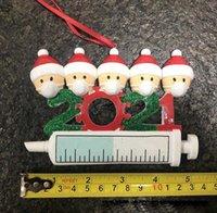 2021 Papai Noel HangTag Máscara Humano Epidemic Prevenção Handwritten DIY Árvore de Natal PVC Glitter Hang Tag Decoração de Natal Pendurado