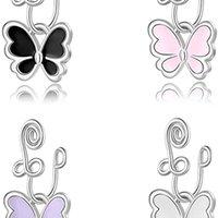 Martillo de la nariz de la mariposa, no piercing, anillos de nariz falso, manemana africana de la nariz no piercing para mujeres