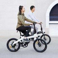 20 inç 36 V Gri Beyaz Elektrikli Bisiklet Himo C20 Elektrikli Scooter Moped Bisiklet C20 Ebike 10Ah 250w Motor