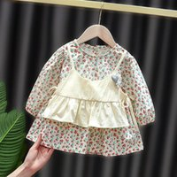 Girl's Dresses 1 Year Baby's Birthday Spring Girl Clothes Floral Dress For Toddler Girls Baby Clothing Fashion Design Infant