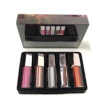 FB 새로운 크리스마스 립 광택 세트 미니 다이아몬드 립 글레이즈 립글로스 5 PCS 광택 폭탄 축제 컬렉션