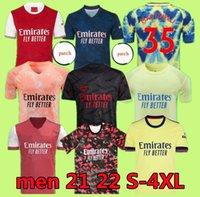 S-4XL Arsen 4. Soccer Jersey Gunners 21 22 Saka Thomas Wilian Nicolas Tierney 424 Sammlung Football Hemden Männer Kinder Viertel Händler