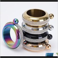 Drinkware Kitchen, Dining Bar Home & Gardendelicate Hip Flasks Rhinestone Bracelet Bangle Pot 3Dot5Oz Portable Flagon Fashion Round Whisky Wi