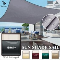 Shade Waterproof Rectangle Sun Shelter Awning Sunshade Sail For Outdoor Beach Camping Garden Patio Pool Canopy Tent 40%OFF