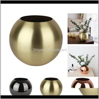 Vases Décor & Gardenstainless Steel Home Decor Unbreakable Metal Flower Vase Living Room Decoration Golden Polished Flowerpot Minimalist Cra