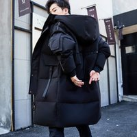Luxury menswear Designer down jacket men's 2021 popular tooling medium long winter coat Korean trendy wearBrand cotton clothing