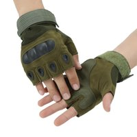 Outdoor Black Hawk Half Finger Gloves Hard Shell Skid Skid Fitness Training Rock Arrampicata Riding Tactical Protective