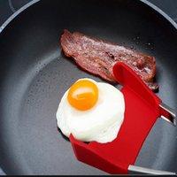 Altre utensili da cucina 2-in-1 Spatola intelligente Pinze antigas antiaderente resistente al calore Cibi alimentari Gripo Acciaio inox Accessori in acciaio inox DHA4446
