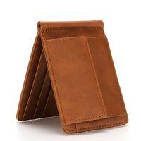 Wallets RFID Small Slim Men Women Money Clip Brand Mini Purse Card With Carteira Masculina