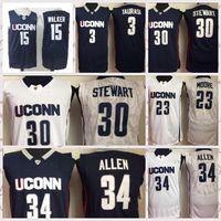 2021 Vintage Erkekler Retro Klasik Uconn Huskies Koleji Basketbol Forması Kuş 3 Diana Taurasi 30 Breanna Formalar Nefes Kısa Boyutu S-2XL