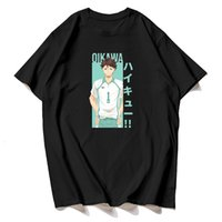 Üst Yaz Haikyuu Tooru Oikawa T Gömlek Kuroo Karikatür T-Shirt Karasuno Kawaii Erkek Tee Homme için Yüksek Grafik Tees Fly