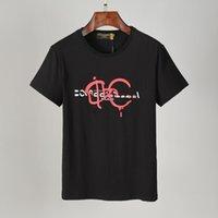 눈 남성용 티셔츠 여름 반팔 패션 프린터 캐주얼 야외 망 티셔츠 크루 넥 옷 2021SS 7 색 M-3XL