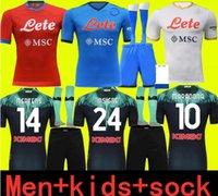 Adultos e crianças 21 22 Napoli Soccer Jersey Home 2021 2122 Nápoles Zielinski Maradona Insigne Mertens Callejon Jogador RPG Futebol Camisas