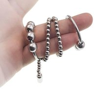 Cockrings Stainless Steel Penis Rinngs Bead Massage Chain Bondage Cock Glans Stimulate Enlarger Erection Metal Ring Sex Toys For Men