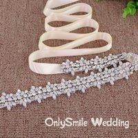 Wedding Sashes Rhinestone Sparkly Belts Bridal Belt For Crystal Girls Fashion Sash