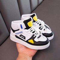 Skate shoes Kids Fashion High Top Children Sports Tennis Shoes Antislip Sneakers Trend Hiking 0918
