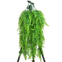 الزخرفية الزهور اكاليل نباتات اصطناعية فاينز البكاء الصفصاف محاكاة الروطان يترك الفروع الأخضر اللبلاب ورقة المنزل الديكور
