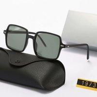 2021 Quadratische Rahmen suanglasses Womens Herren Sonnenbrillen Die hellen Farblinsen UV380 Brillen Männer Sommerbrillen mit Kasten