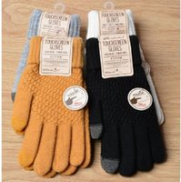 Christmas gift gloves Winter touch screen Women's and men's warm stretch knitted imitation wool all-finger non-slip fashion outdoor for the family beautiful