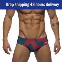 One-Piece Suits Mens Swim Briefs Sexy Short Sport Homme Men's Low Waist Swimsuit Shorts Breathable Trunks Fashion Gay Men Swimwear Summer 20