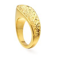 VAROLE Trendy Rings For Women 3D Geometric Gold Color Finger Ring Personality Fashion Jewelry Wholesale Bague Femme