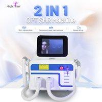 E-Light SHR OPT IPL 레이저 부드러운 다리 머리 제거 기계 영구적 인 통증 모르트 피부 젊 어 짐 여드름 안료 혈관 치료 유방 리프트 업 장비