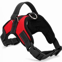 Dog Collars & Leashes Drop Harness Reflective Breathable Adjustable Pet For Vest ID Custom Patch Outdoor Walking Supplies
