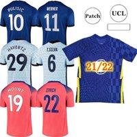 21 22 كرة القدم الفانيلة CFC كرة القدم قميص Kante Giroud Pulisic Man Werner Mount Ziyech Lampard Kids Havertz Kit T. Silva Abraham Set Chilwell