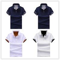 2021 여름 짧은 소매 남자 폴로 티셔츠 T 셔츠 패션 셔츠 유니폼 캐주얼 슬림 솔리드 컬러 비즈니스 망 의류 AB