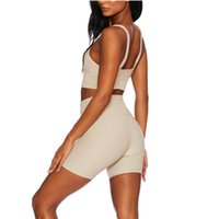Women's Tracksuits CHRLEISURE Summer Clothes For Women Sexy Bra High Waist Shorts Leggings Suit With Fashion Sets Athletic Sportwear