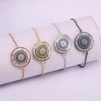 Zyunz jóias mulheres pulseira moda cadeia braceletes charme micro pavimentar cz zircon olhos para link de presente,