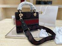 2021 Top Quality Designer Luxo Saco De Ombro Bordado Princesa Diana