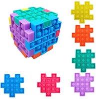 DHL Fidget Toys Cube Puzzle Bubble Sensory Fidgets Stress Reliever Giocattolo soddisfacente per bambini Adulti Home School Outdoor