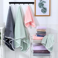 Towel Thick Coral Fleece Set Household Solid Color Bath And Face Massage Quick-Dry Microfiber Absorbent Towels