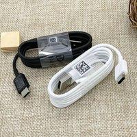 100% Hakiki Orijinal S8 USB Tip-C 1.2 M Hızlı Charing Veri Sync Kabloları için Samsung S9 Not 7 8 S10 Kablosu